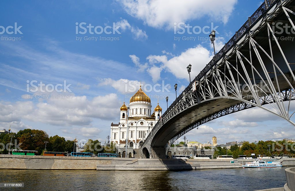 Cathedral in Moscow. stock photo