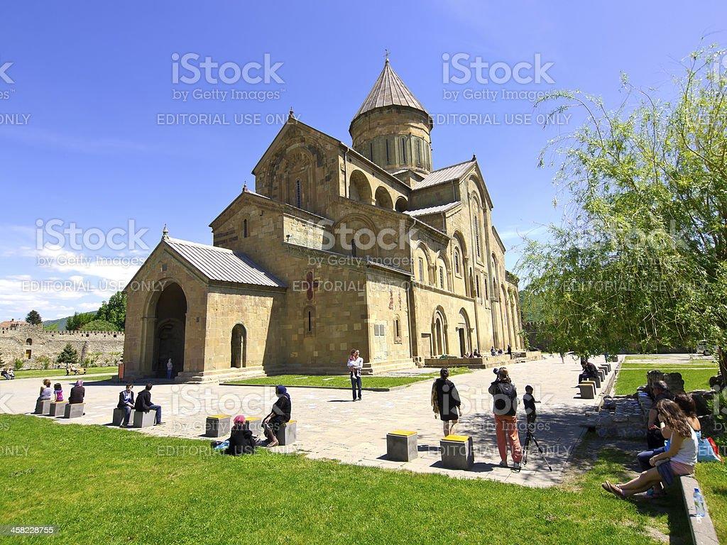 Cathedral in Mtskheta stock photo