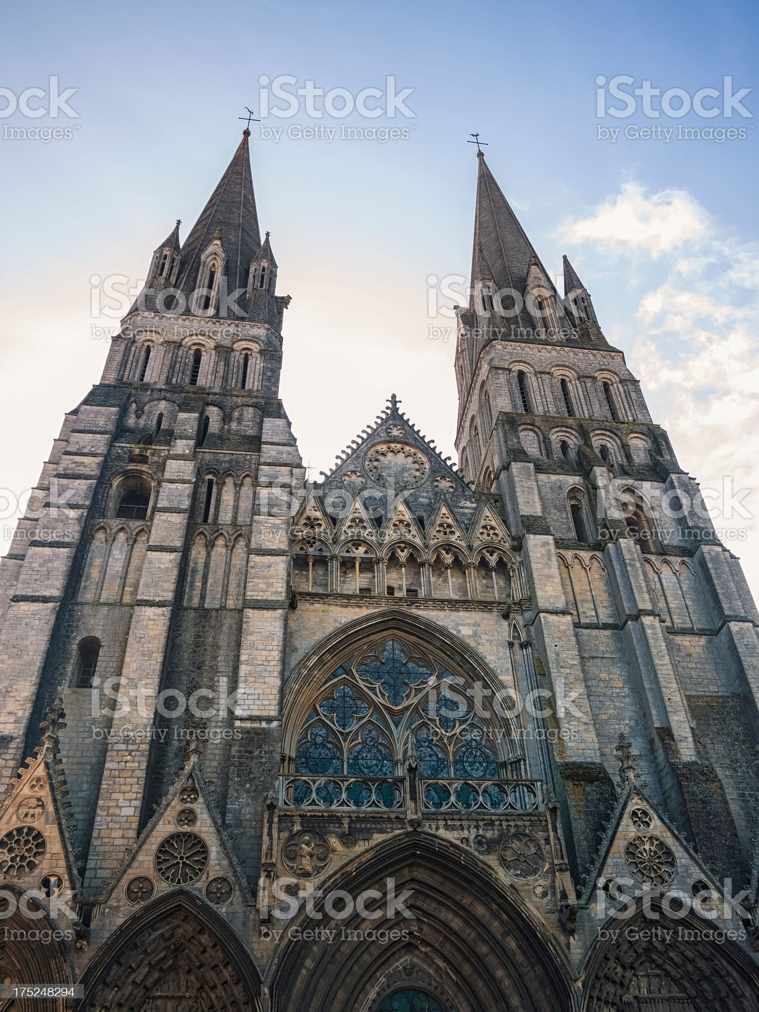 Cathedral in Normandy - France royalty-free stock photo