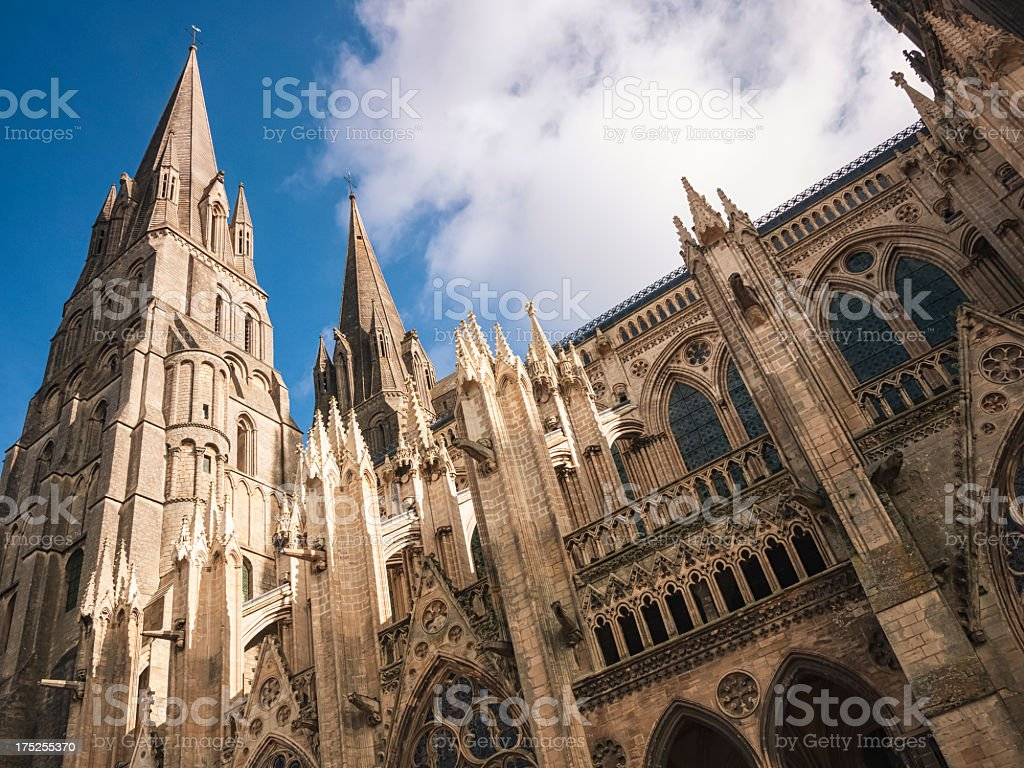 Cathedral in Normandy - France stock photo