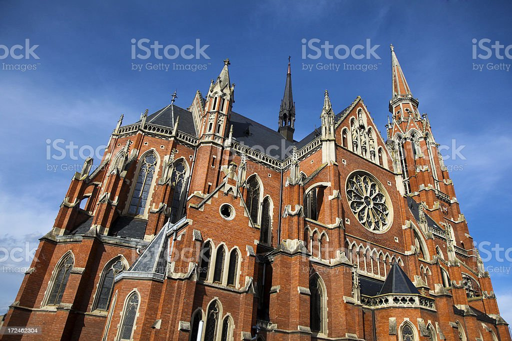 Osijek cathedral stock photo