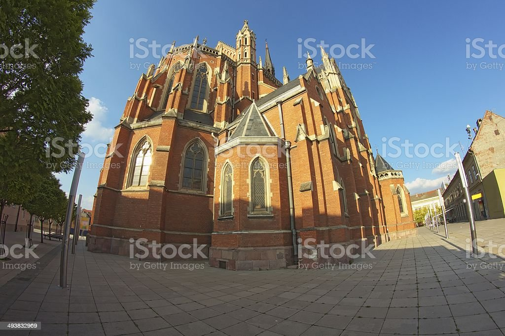 Cathedral in Osijek stock photo