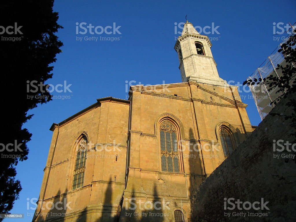 Cathedral in Pienza royalty-free stock photo
