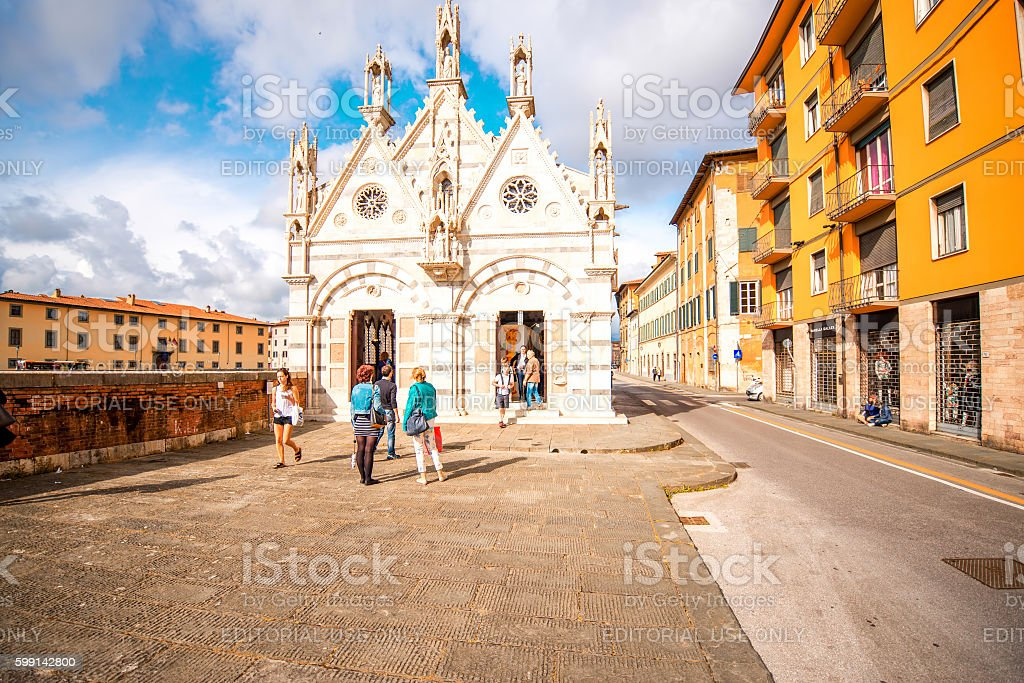 Cathedral in Pisa town stock photo