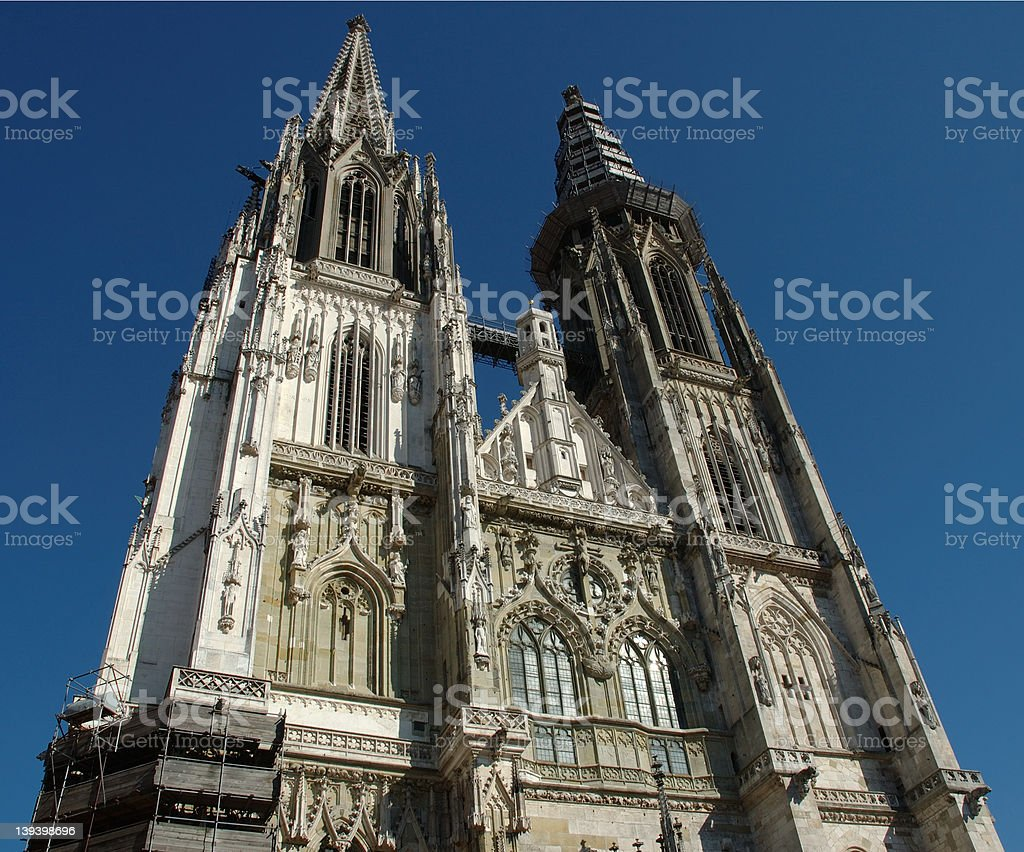 Cathedral in Regensburg royalty-free stock photo