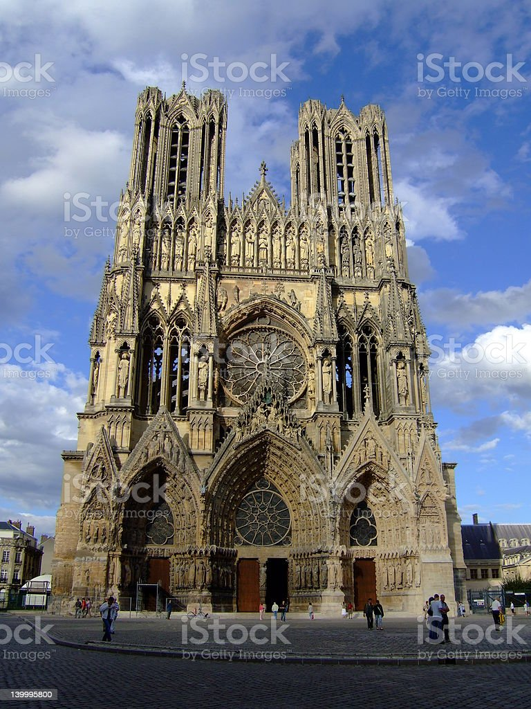Cathedral in Reims royalty-free stock photo