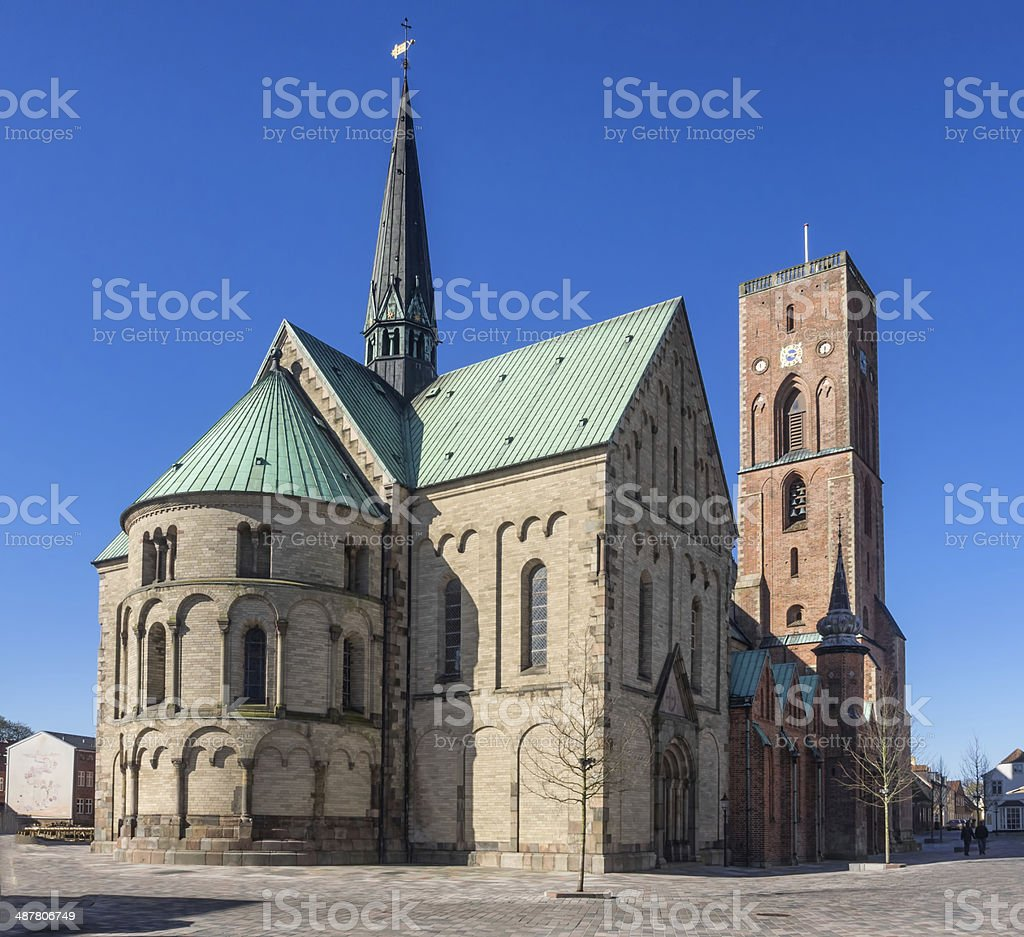 Cathedral in Ribe, Denmark stock photo