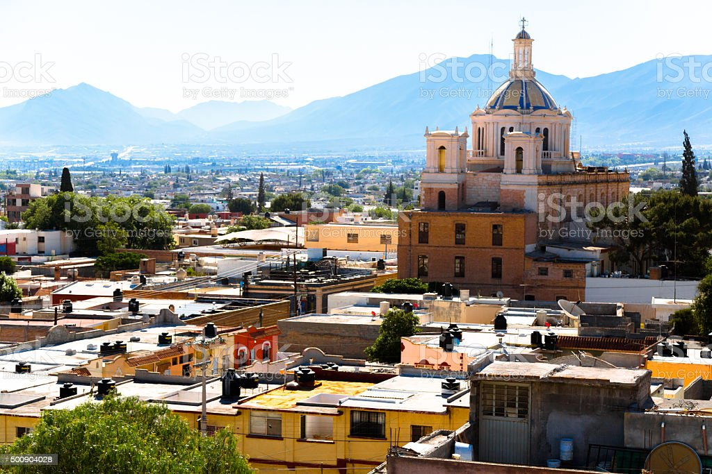 Cathedral in Saltillo stock photo