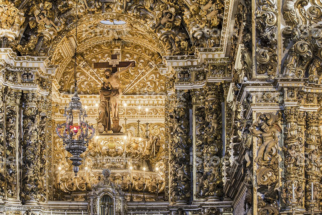 Cathedral in Salvador royalty-free stock photo