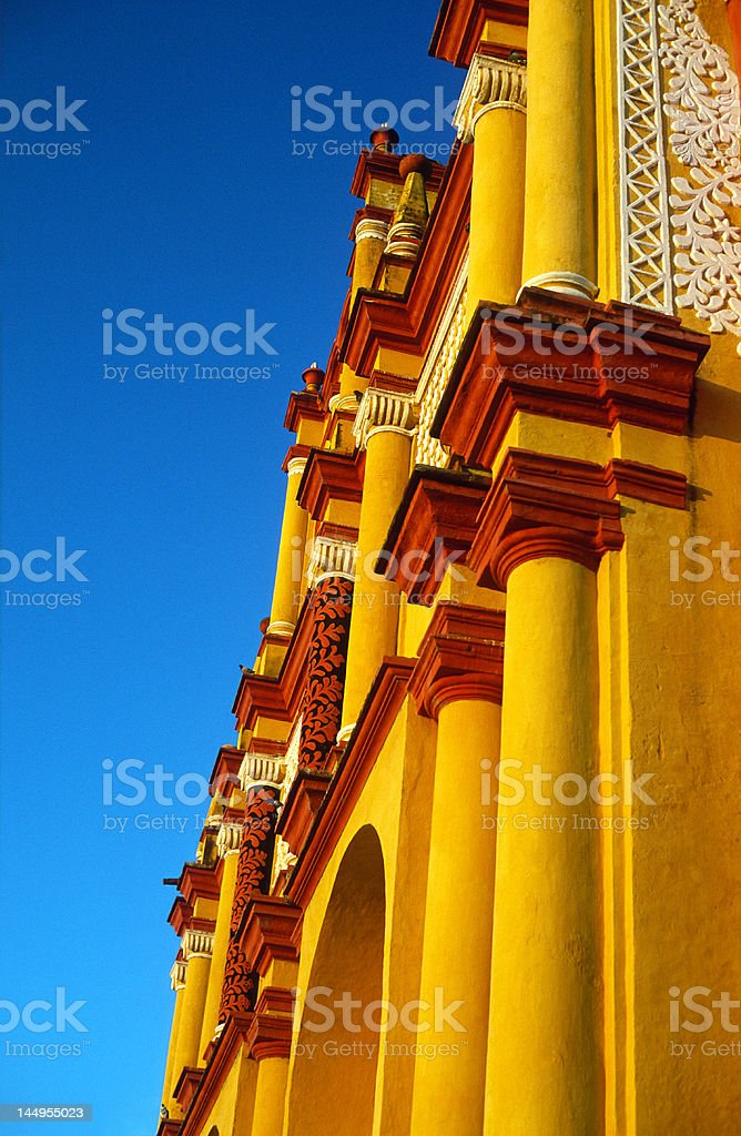 Cathedral In San Crisobal (Chiapas, Mexico) royalty-free stock photo