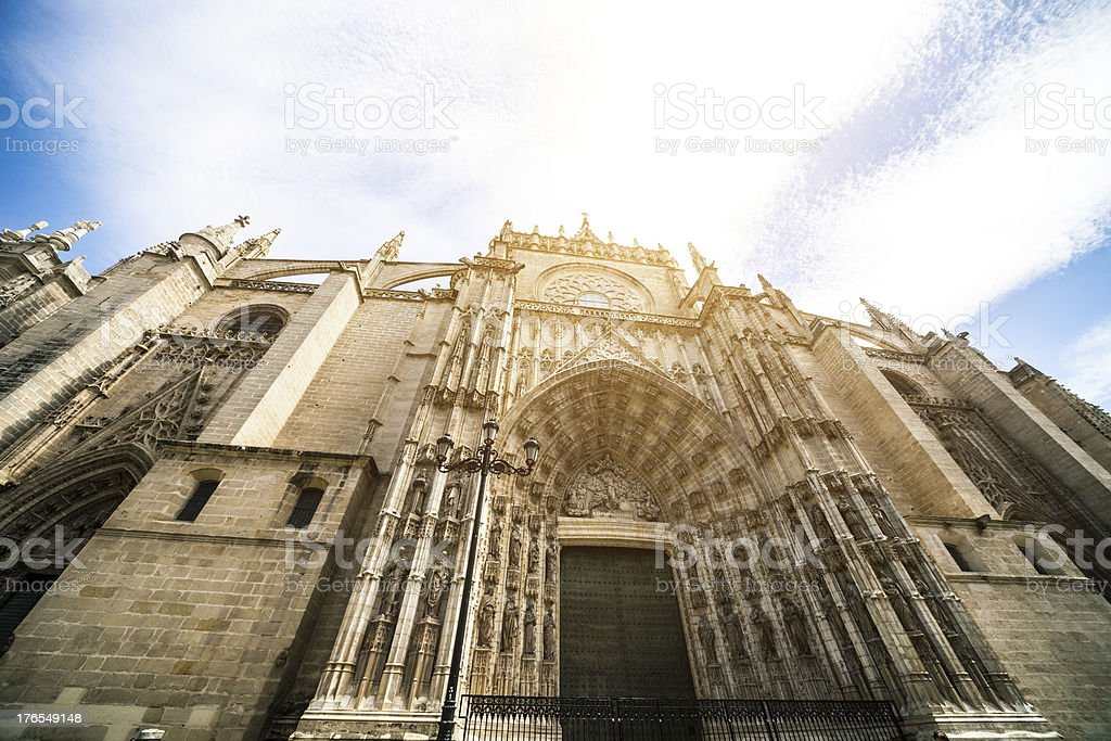 Cathedral in Seville - Spain royalty-free stock photo