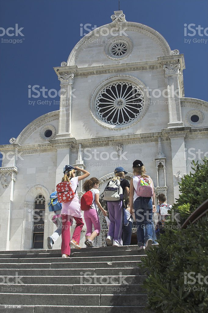 Cathedral in Sibenik stock photo