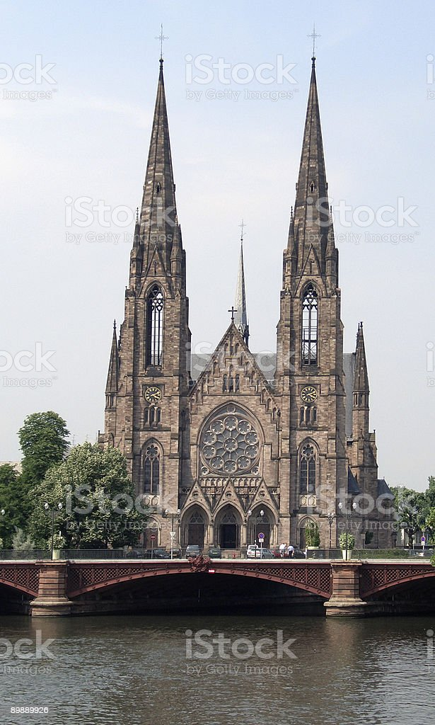 cathedral in Strasbourg royalty-free stock photo
