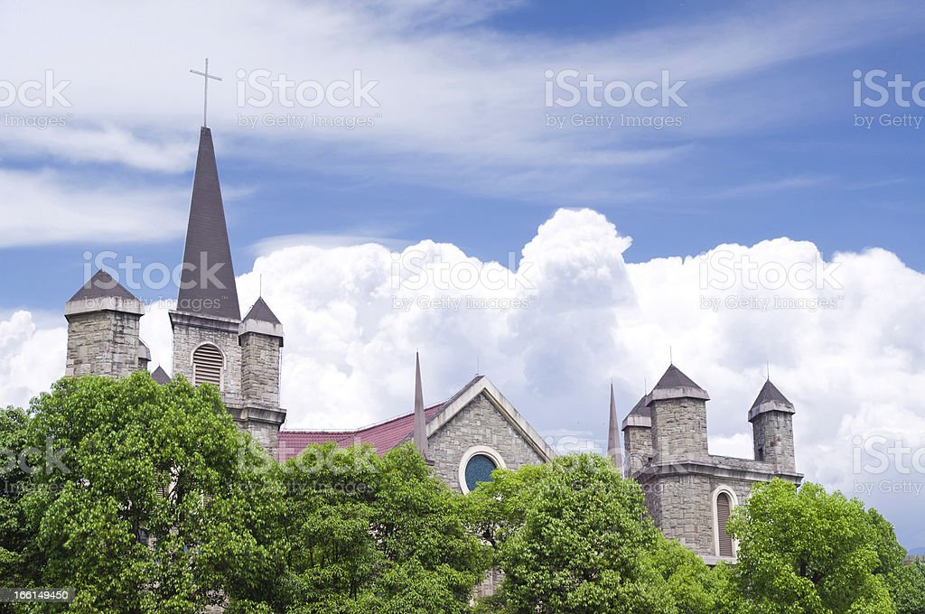 cathedral in sunshine royalty-free stock photo