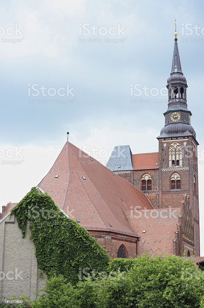 Cathedral in Tangermünde (Germany) royalty-free stock photo