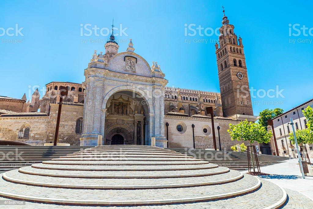 Cathedral in Tarazona de Aragon, Saragossa, Spain stock photo