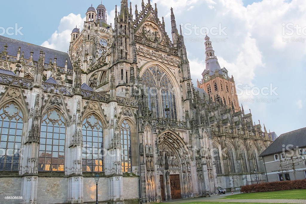 Cathedral in the Dutch city of Den Bosch. Netherlands stock photo