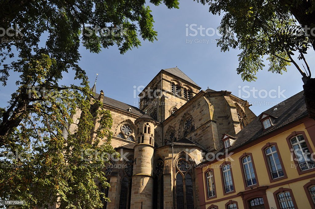 Cathedral in Treves, germany stock photo
