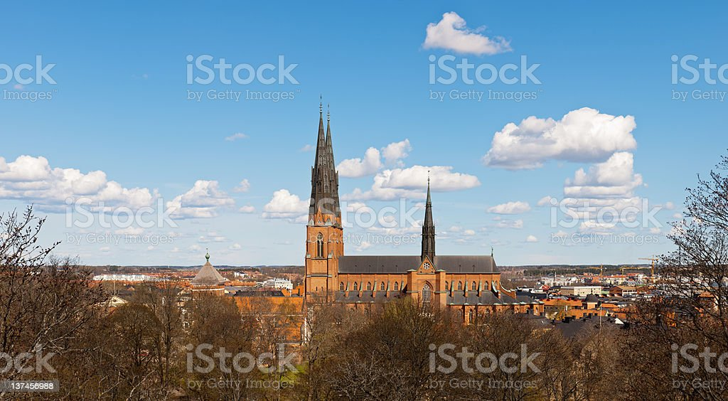cathedral in Uppsala stock photo