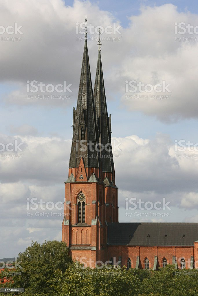 Cathedral in Uppsala royalty-free stock photo