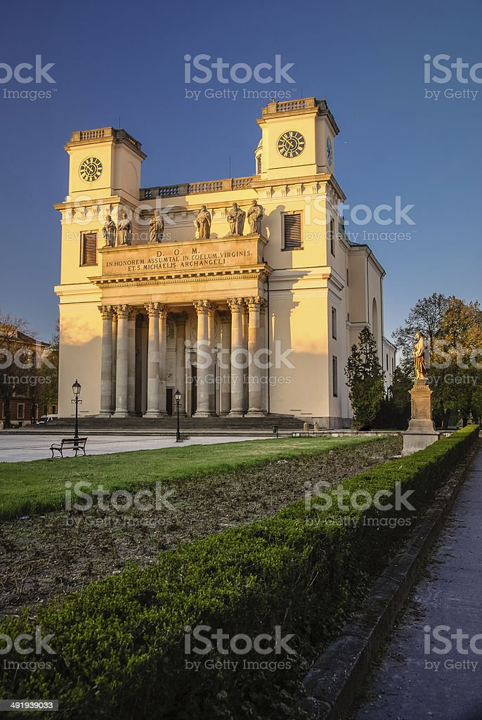 Cathedral in Vac, Hungary stock photo