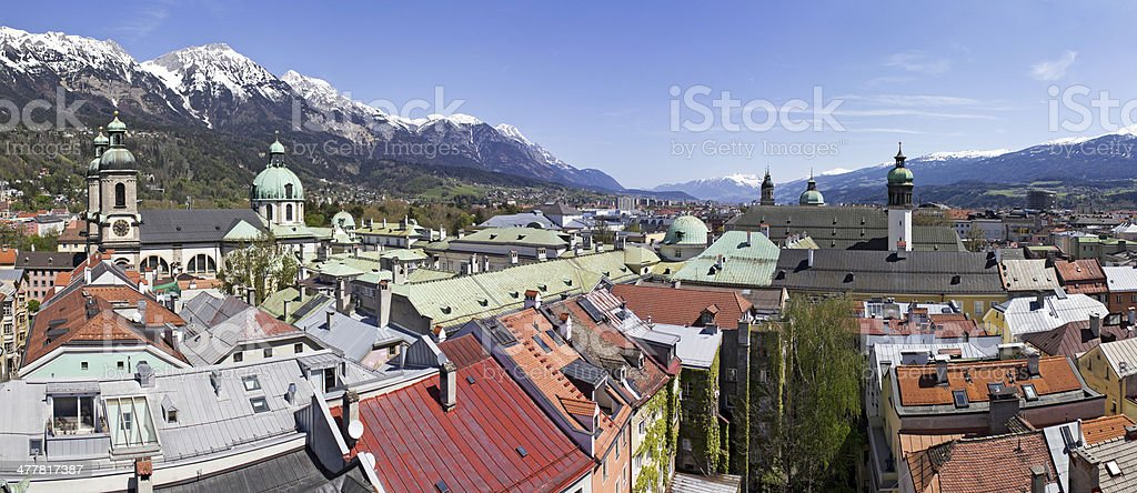 Cathedral Innsbruck stock photo