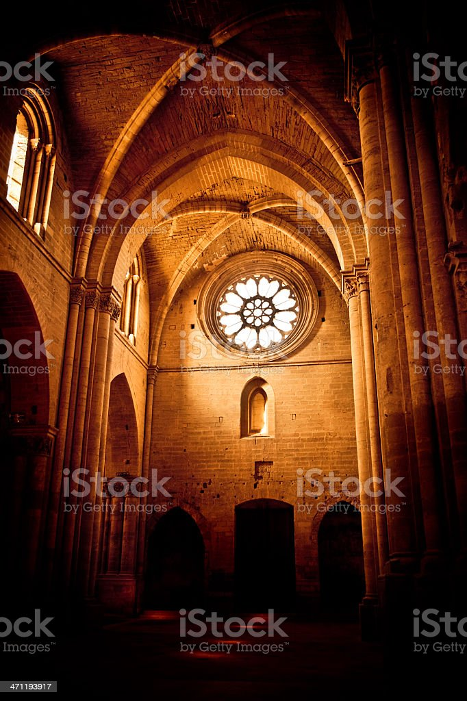 Cathedral Interior LLeida Lerida Spain La Seu Vella royalty-free stock photo