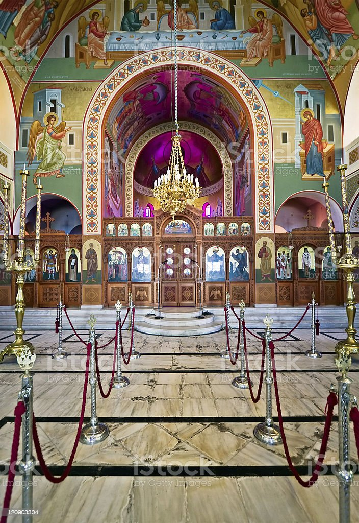 Cathedral interior royalty-free stock photo
