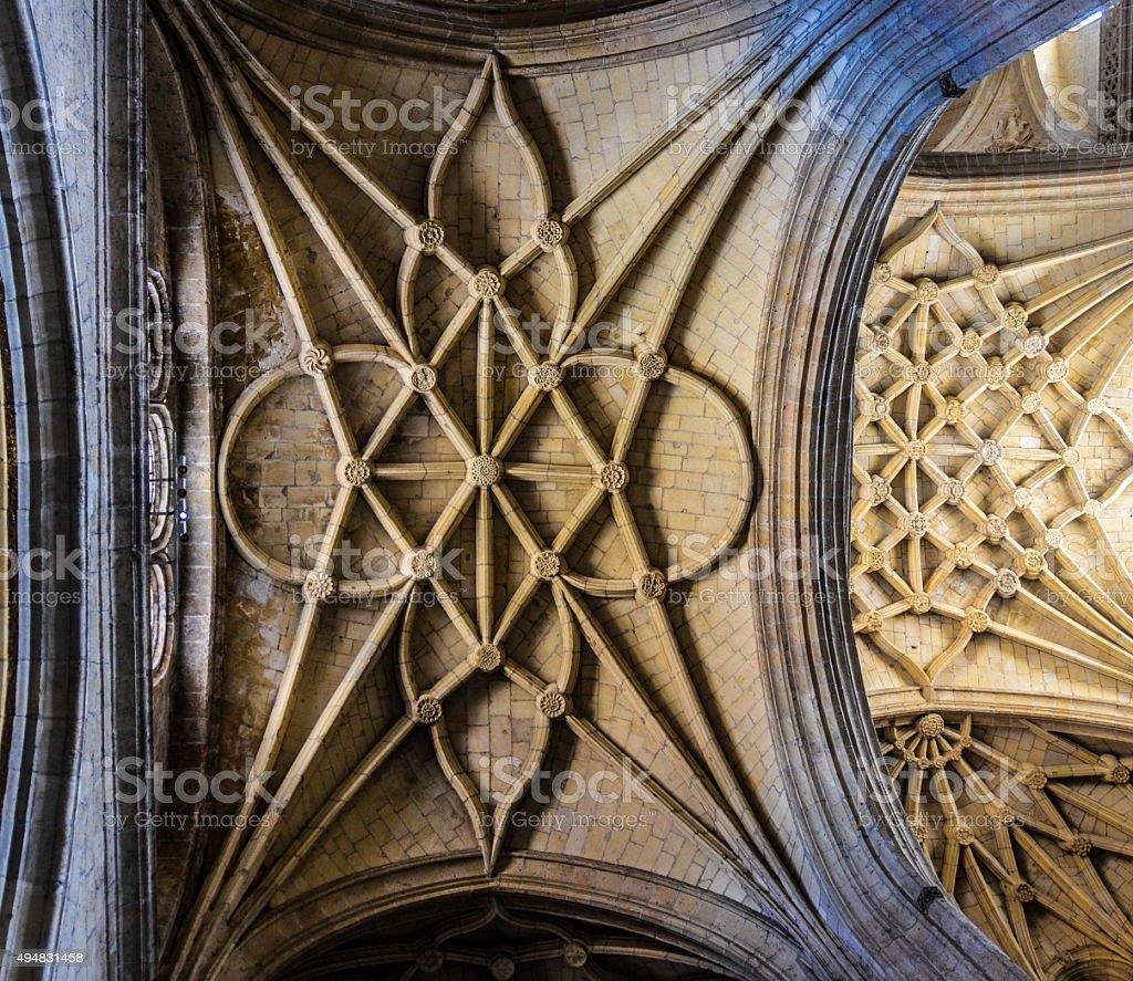 Cathedral Interior - Segovia, Spain stock photo