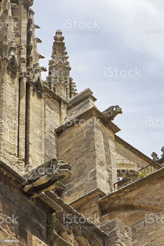 Cathedral La Giralda detail at Seville Spain royalty-free stock photo