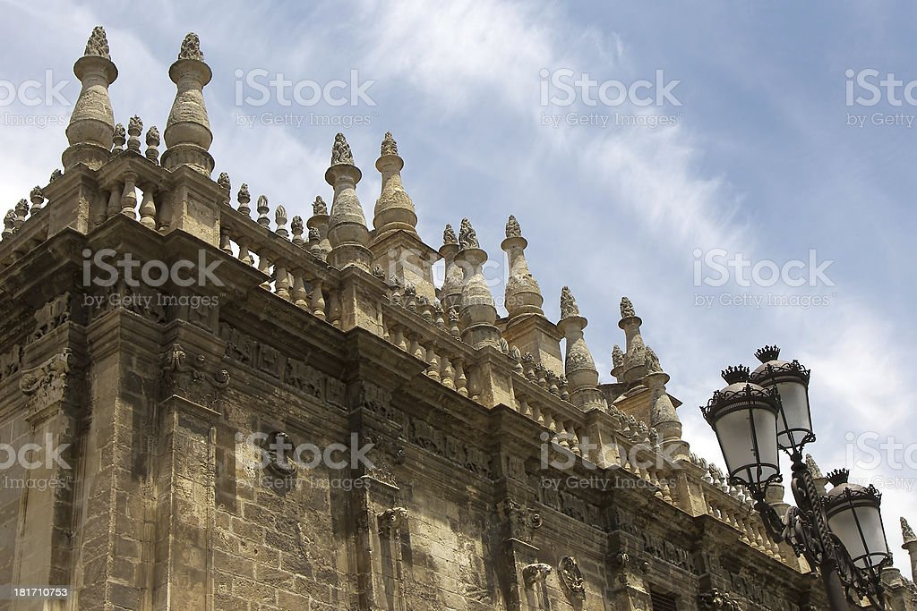 Cathedral La Giralda detail at Seville Spain royalty-free stock photo