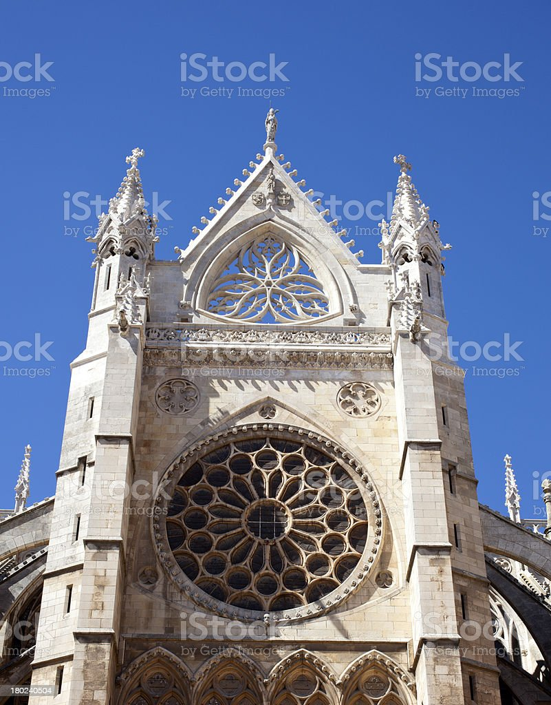 Cathedral, Leon royalty-free stock photo