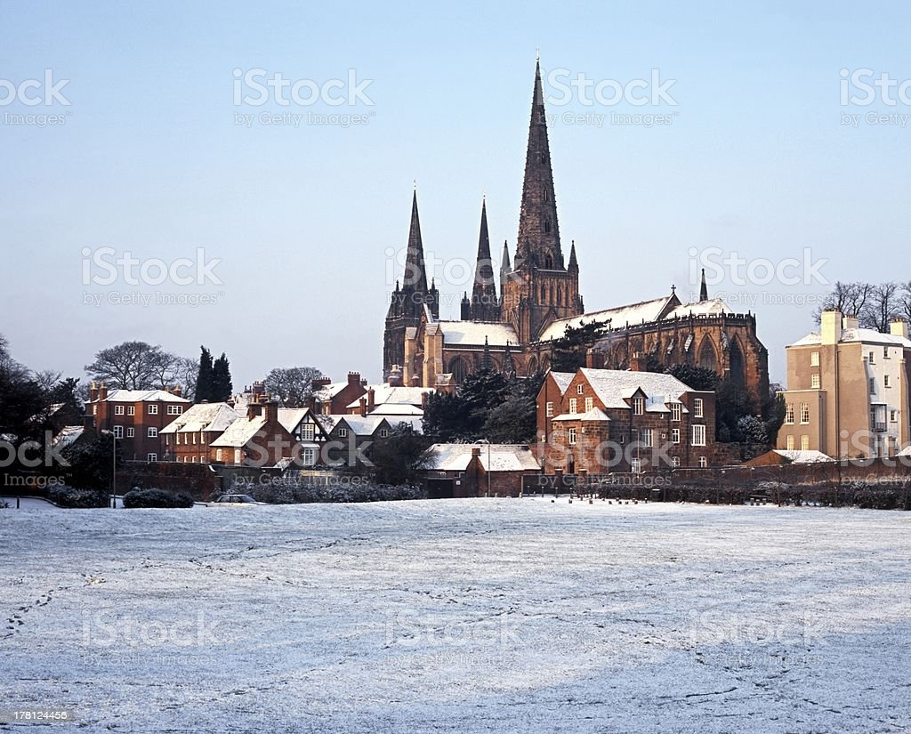 Cathedral, Lichfield, England, UK. stock photo