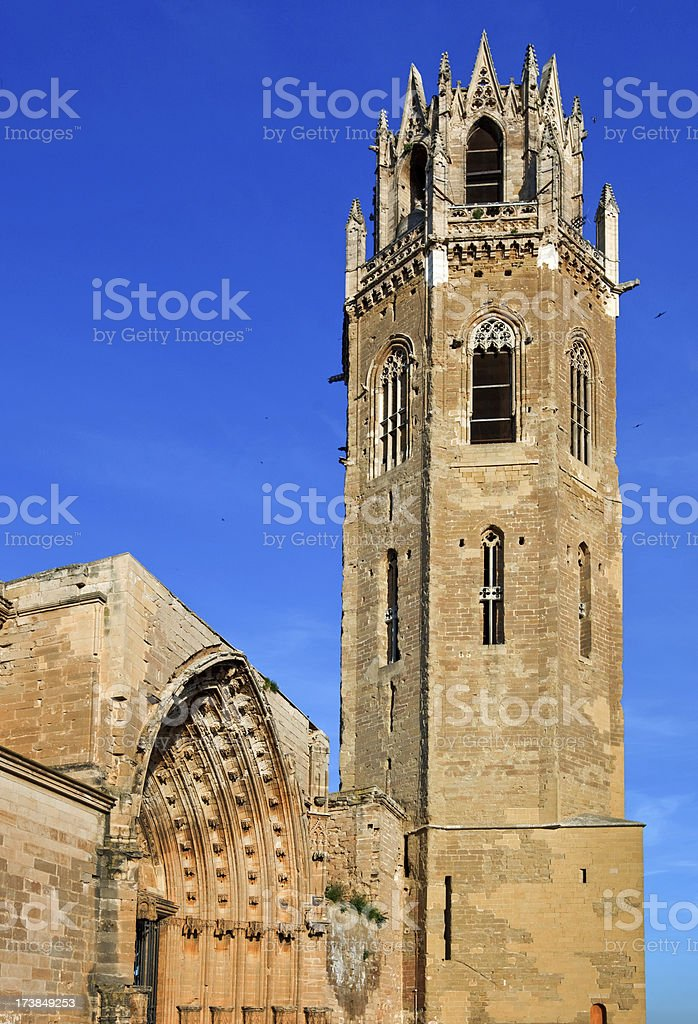 Cathedral Lleida stock photo