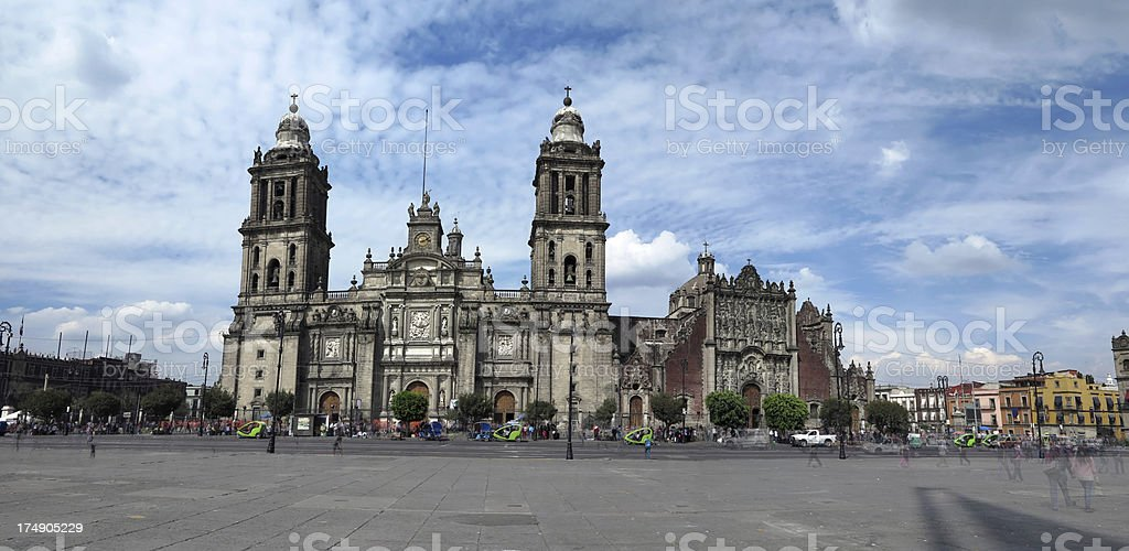 Cathedral Metropolitana, Mexico City stock photo