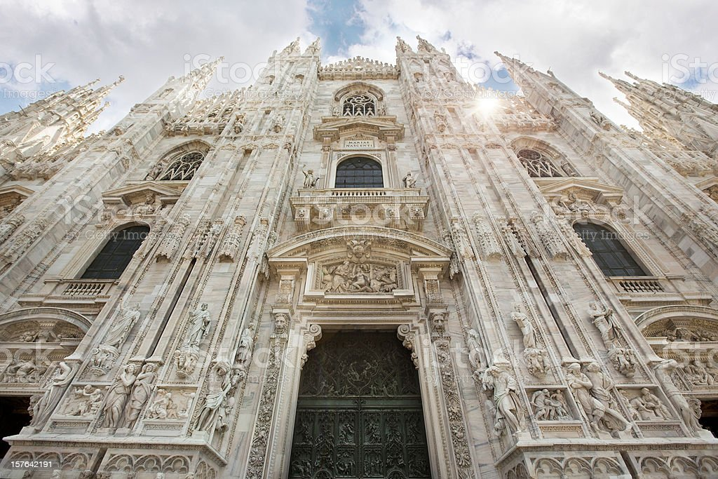 Cathedral Milan Italy stock photo