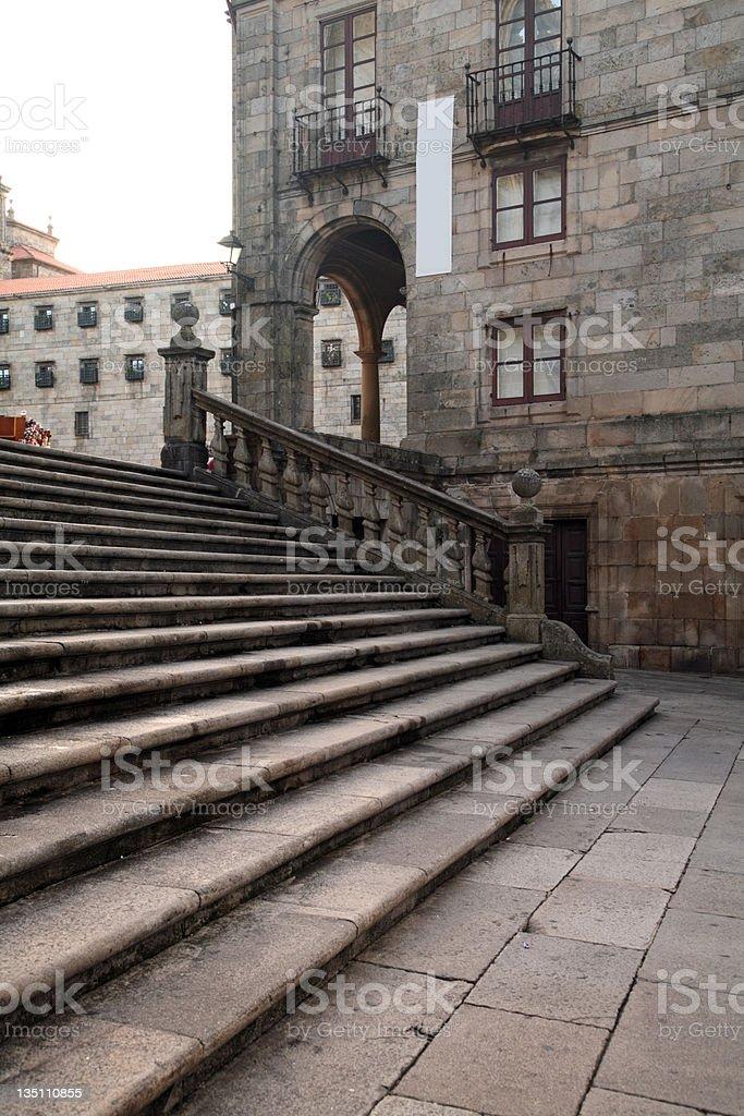 Cathedral, near south entrance - Santiago de Compostela, Spain royalty-free stock photo