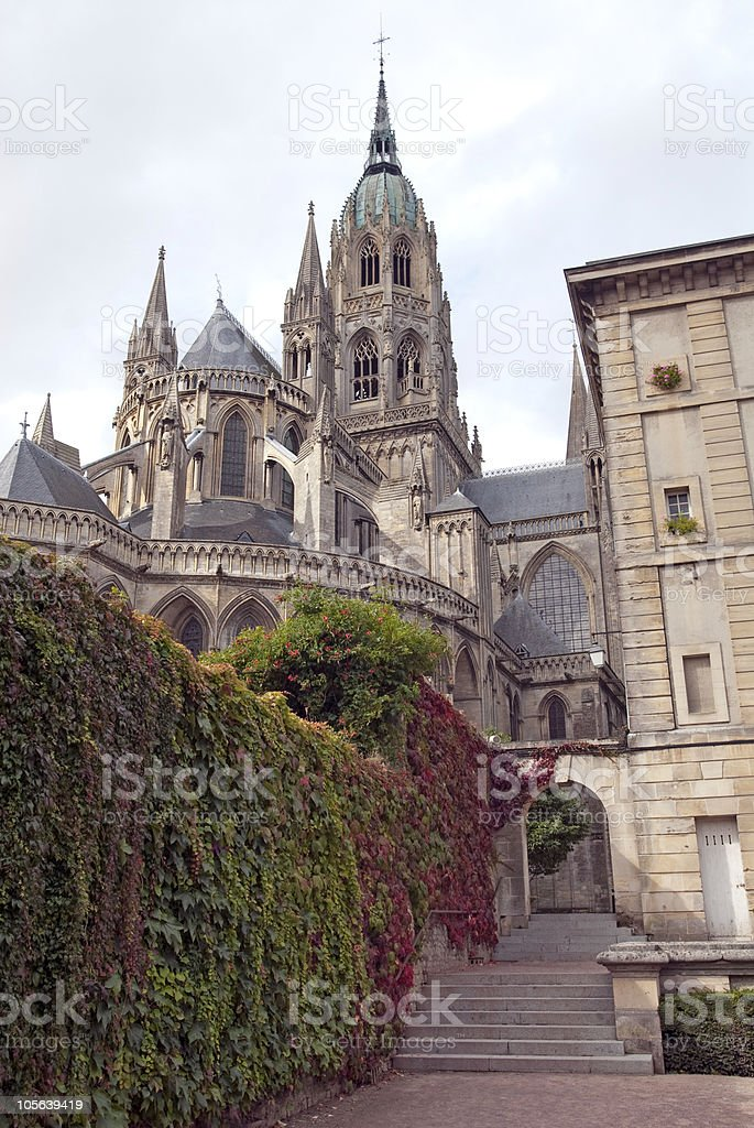 Cathedral Notre Dame de Bayeux ,Normandy,France stock photo