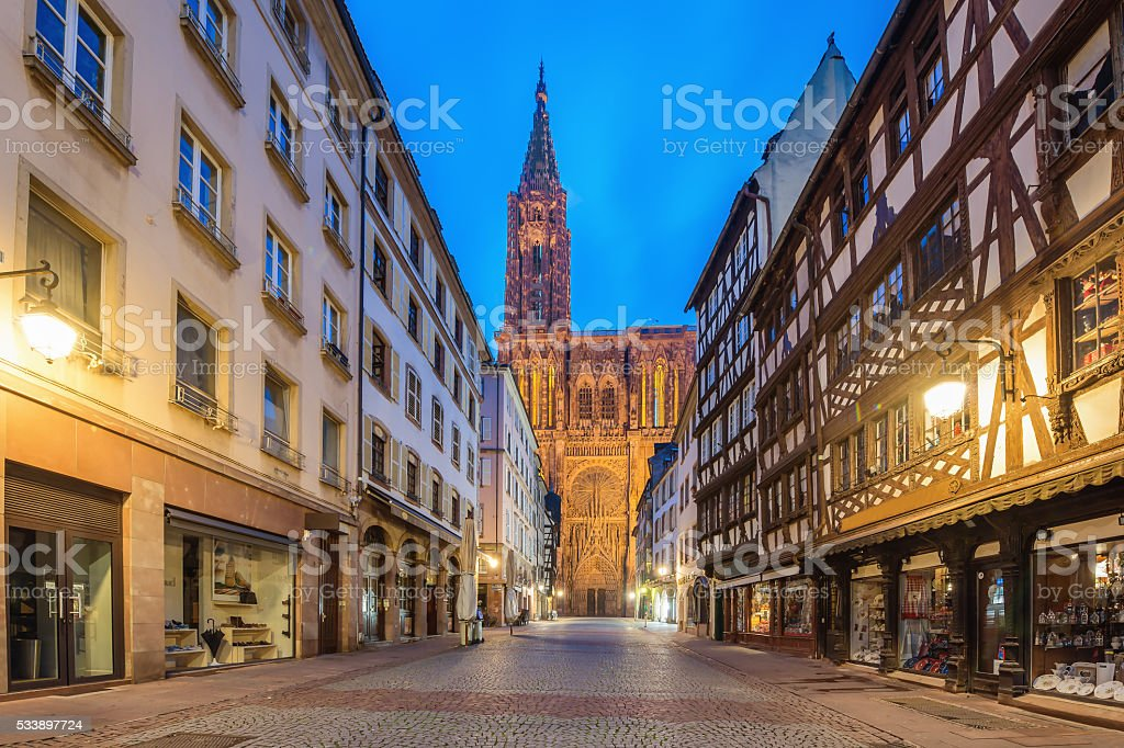 Cathedral Notre Dame of Strasbourg, France stock photo