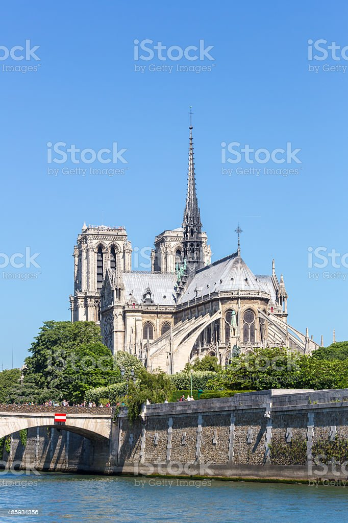 Cathedral Notre Dame Paris stock photo