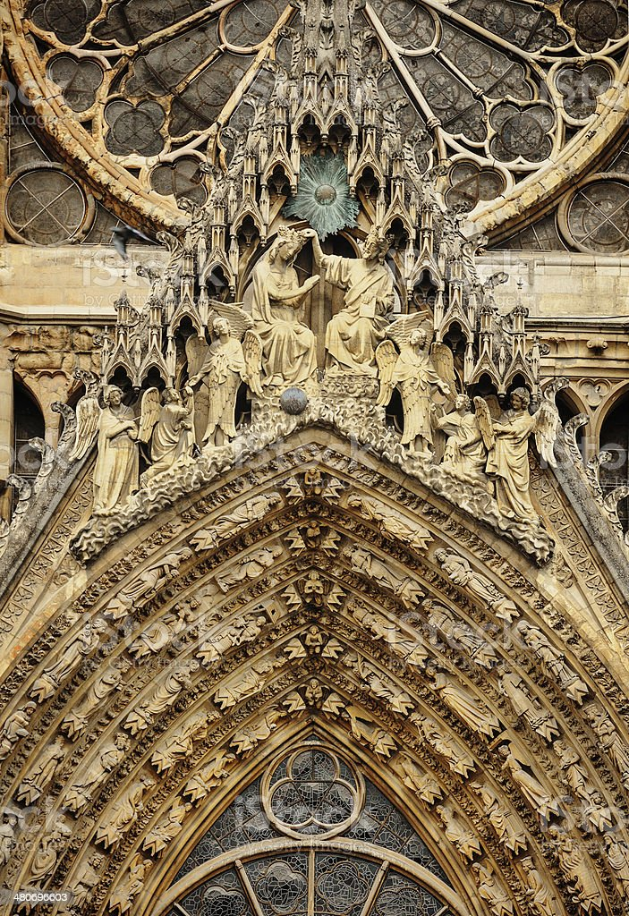 Cathedral Notre-Dame at Reims royalty-free stock photo