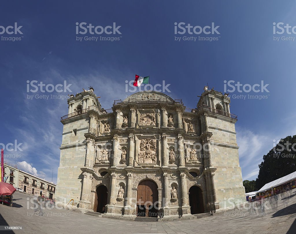 Cathedral, Oaxaca royalty-free stock photo