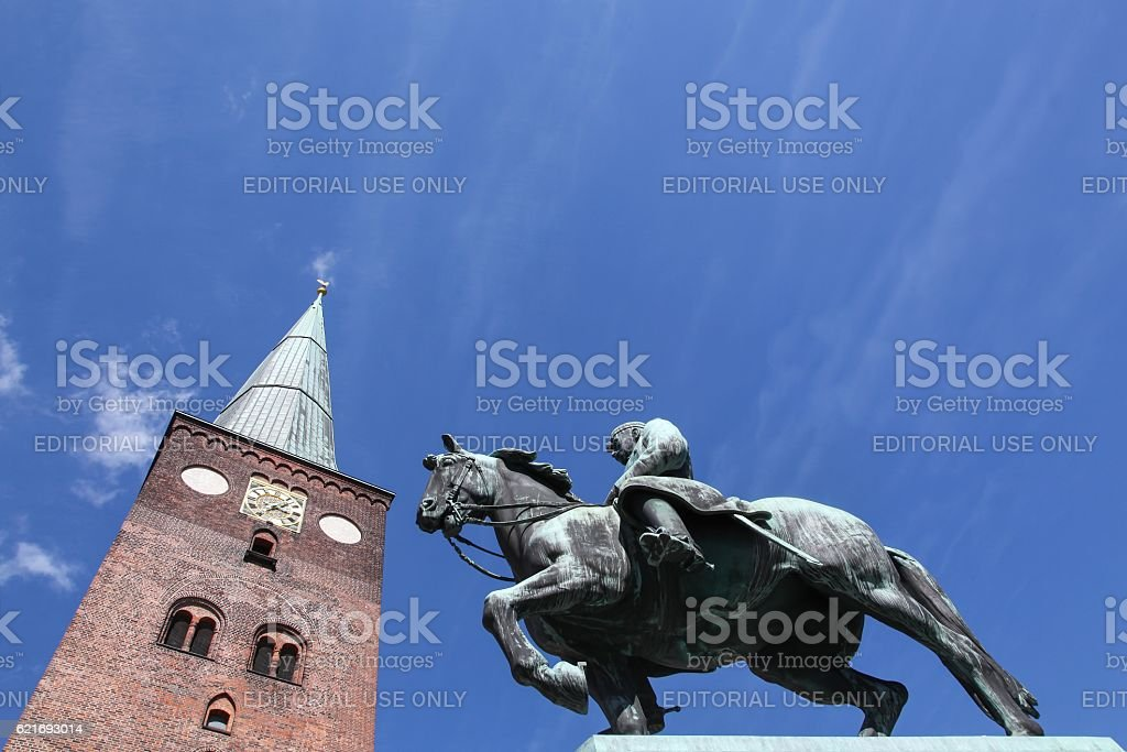Cathedral of Aarhus in Denmark stock photo