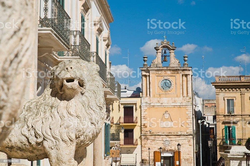 Cathedral of Acquaviva delle fonti. Puglia. Italy. stock photo