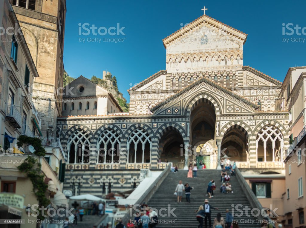 Cathedral of Amalfi stock photo