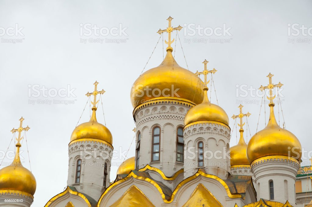 Cathedral of Annunciation in Kremlin stock photo