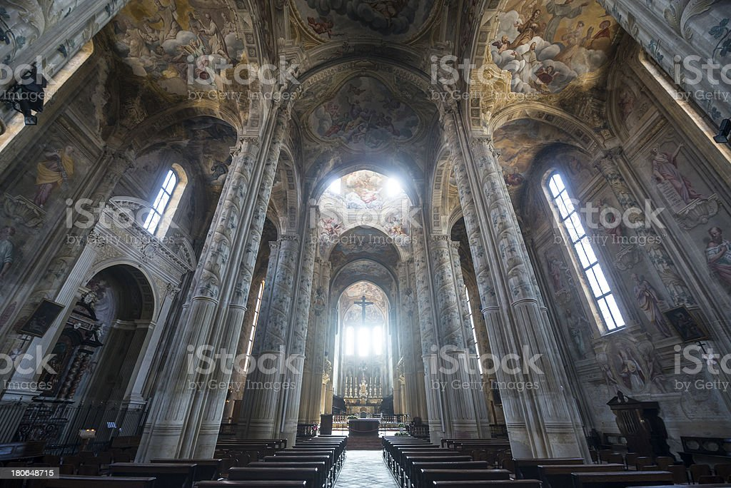 Cathedral of Asti, interior stock photo