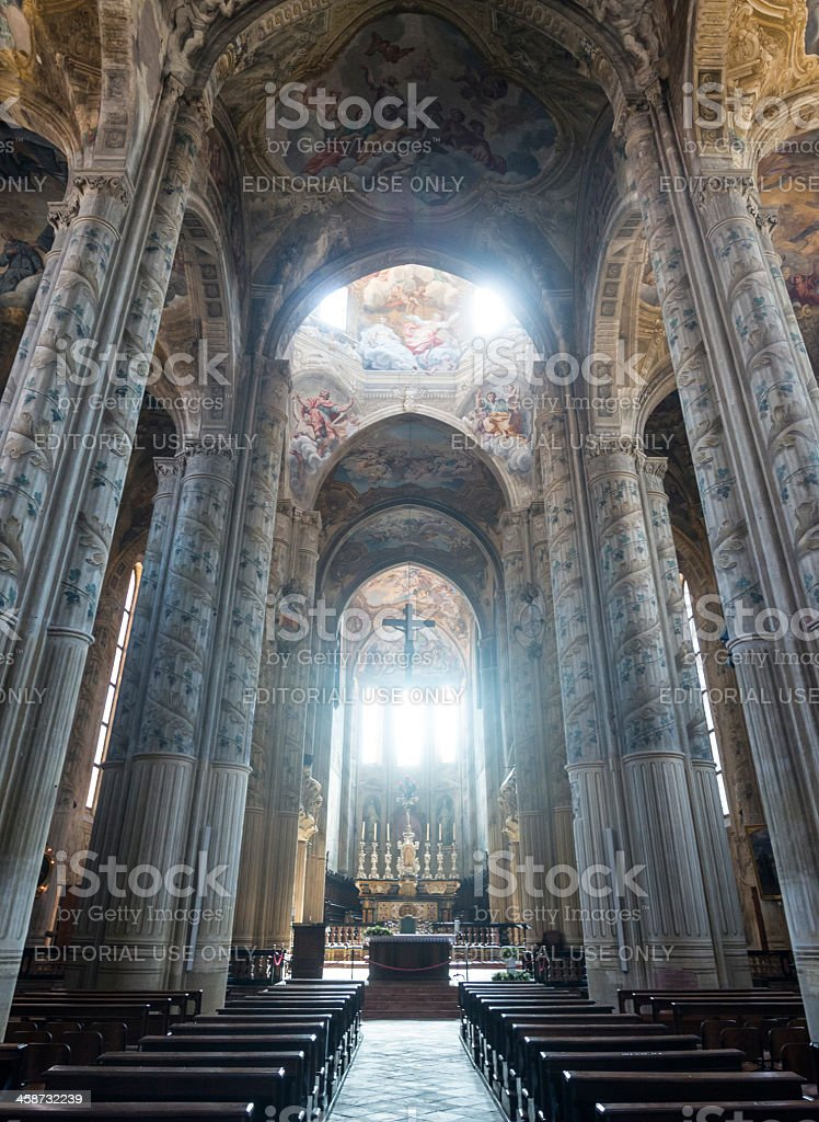 Cathedral of Asti, interior royalty-free stock photo