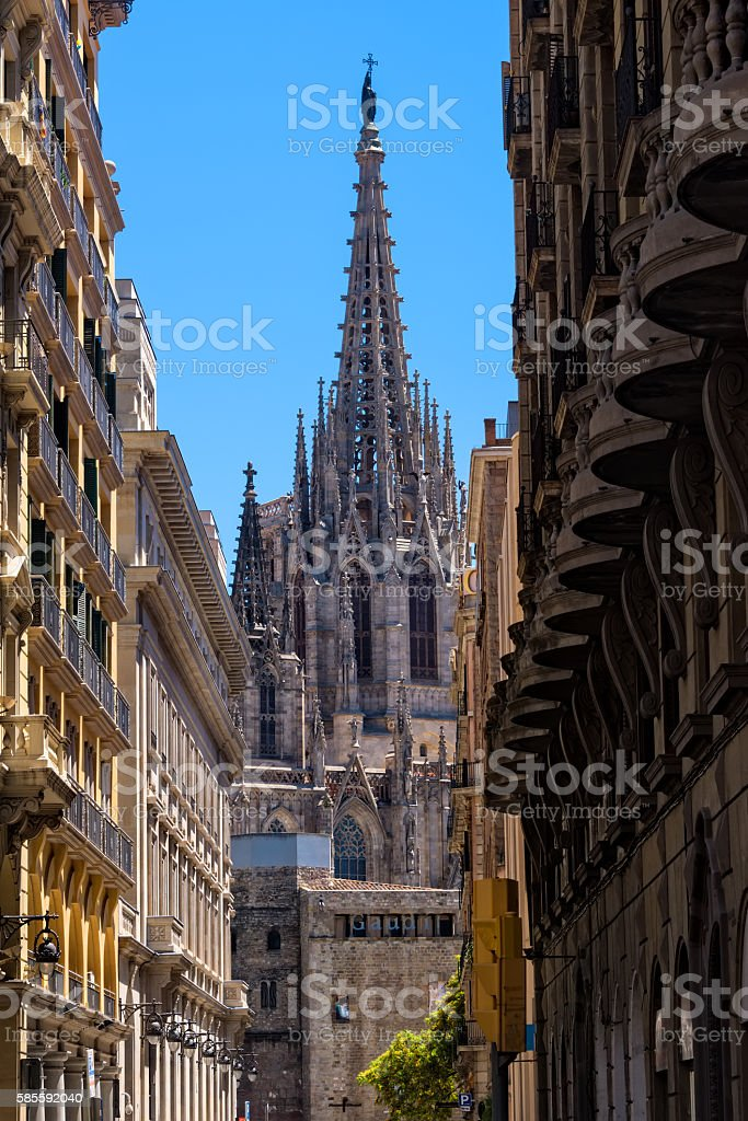 Cathedral of Barcelona stock photo