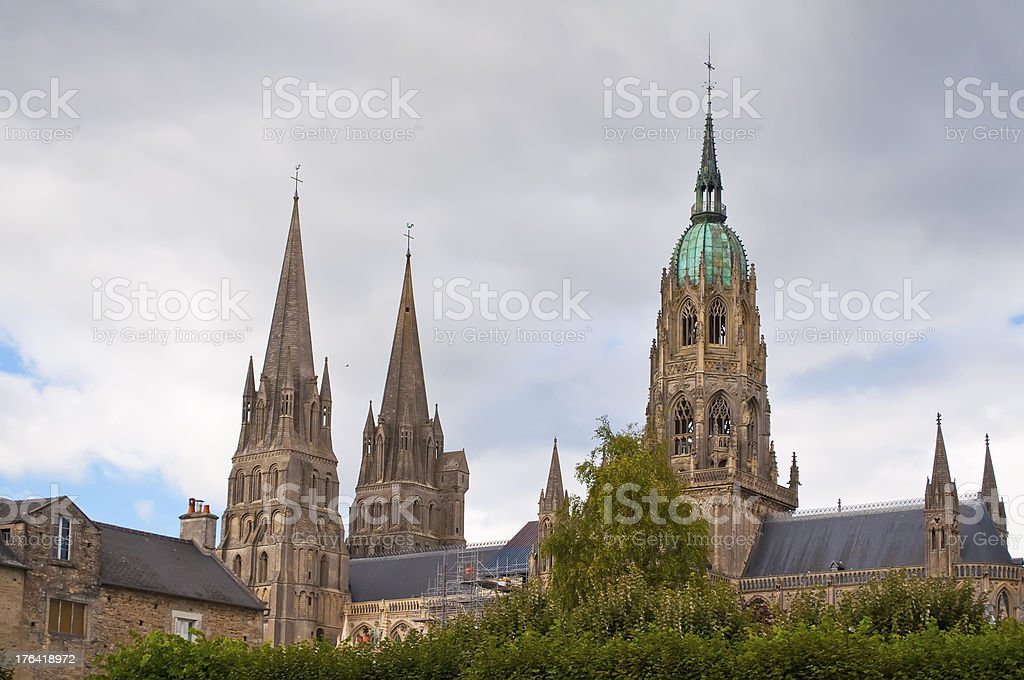 Cathedral of Bayeux, France stock photo